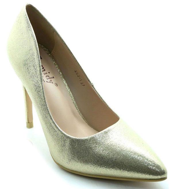 Туфли женские Camidy, цвет: шампань. 252-3. Размер 38252-3Туфли-лодочки Camidy выполнены из искусственной кожи. Внутренняя поверхность и стелька из искусственной кожи обеспечат комфорт при движении. Подошва выполнена из полимера. Модель имеет заостренный мысок и каблук-шпильку