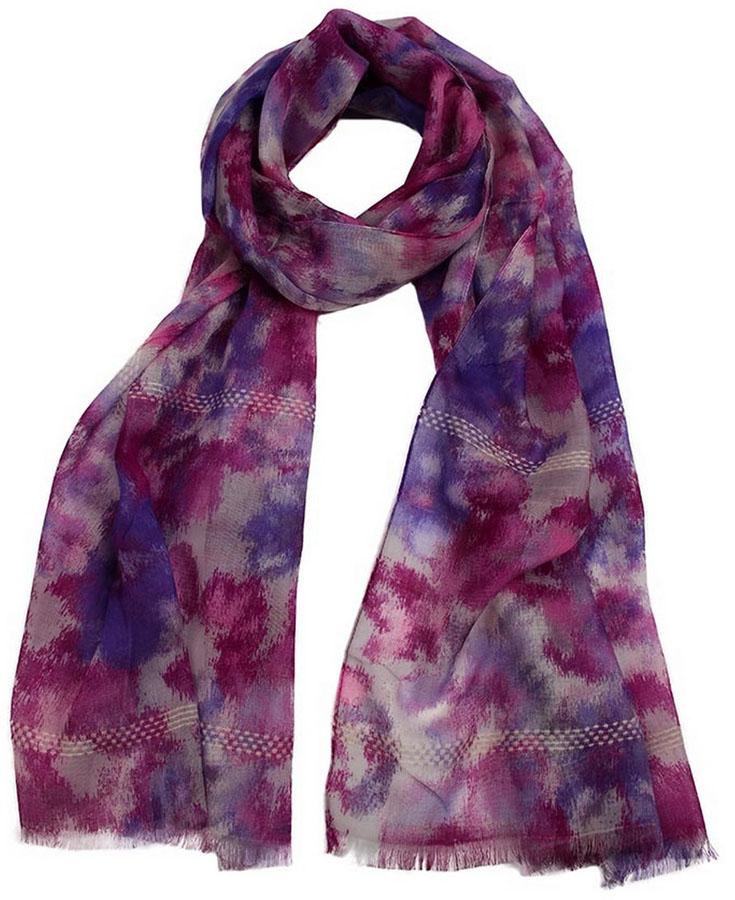 Палантин женский Venera, цвет: фуксия, фиолетовый, сиреневый. 3408472-2. Размер 60 х 180 см3408472-2Стильный палантин Venera выполнен из лиоцеля с добавлением других волокон и оформлен пестрым принтом. Край изделия оформлен бахромой. Такой палантин красиво драпируется, а также превосходно дополняет любой наряд. Он внесет романтичную нотку в ваш летний образ!