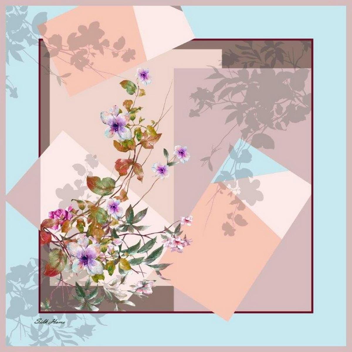 Платок женский Venera, цвет: розовый, голубой, фиолетовый. 3902627-24. Размер 90 х 90 см3902627-24Элегантный женский платок Venera изготовлен из высококачественного полиэстера приятного к телу и оформлен цветочным принтом. Такой стильный аксессуар освежит любой наряд и сделает ваш образ завершенным.