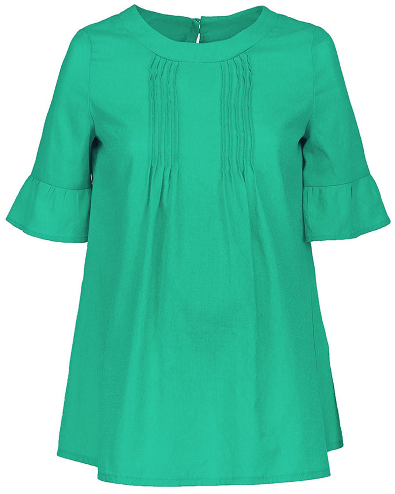 Блузка для беременных и кормящих Mammy Size, цвет: зеленый. 102339. Размер 44102339Блузка для беременных и кормящих Mammy Size выполнена из натурального хлопка. Модель с короткими рукавами на спинке застегивается на пуговицы. Благодаря свободному крою позволяет коже чувствовать себя комфортно даже в самый жаркий день.