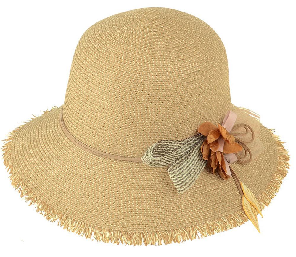 Шляпа женская Dispacci, цвет: бежевый. 51961. Размер 56/5851961Шляпа Dispacci украсит любой наряд. Шляпа оформлена декоративным цветком. Благодаря своей форме, модель удобно садится по голове и подойдет к любому стилю. Такая шляпка подчеркнет вашу неповторимость и дополнит ваш повседневный образ.