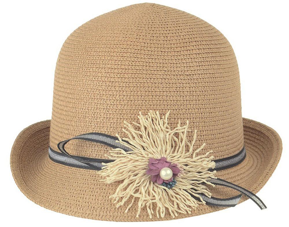 Шляпа женская Dispacci, цвет: бежевый. 51970. Размер 56/5851970Шляпа Dispacci украсит любой наряд. Шляпа с небольшими полями оформлена декоративным цветком и бусиной. Благодаря своей форме, модель удобно садится по голове и подойдет к любому стилю. Такая шляпка подчеркнет вашу неповторимость и дополнит ваш повседневный образ.