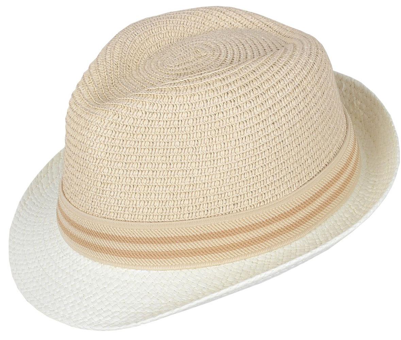 Шляпа женская Dispacci, цвет: бежевый. 7714. Размер 56/587714Классическая шляпа Dispacci непременно украсит любой наряд. Модель оформлена трикотажным контрастным ремешком вокруг тульи. Благодаря своей форме, шляпа удобно садится по голове и подойдет к любому стилю. Шляпа легко восстанавливает свою форму после сжатия. Такая шляпа подчеркнет вашу неповторимость и дополнит ваш повседневный образ.