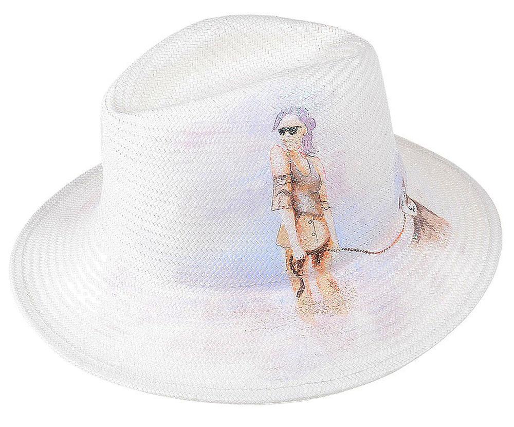 Шляпа женская Dispacci, цвет: белый. 51967. Размер 56/5851967Шляпа Dispacci украсит любой наряд. Шляпа оформлена принтовым рисунком. Благодаря своей форме, модель удобно садится по голове и подойдет к любому стилю. Такая шляпка подчеркнет вашу неповторимость и дополнит ваш повседневный образ.