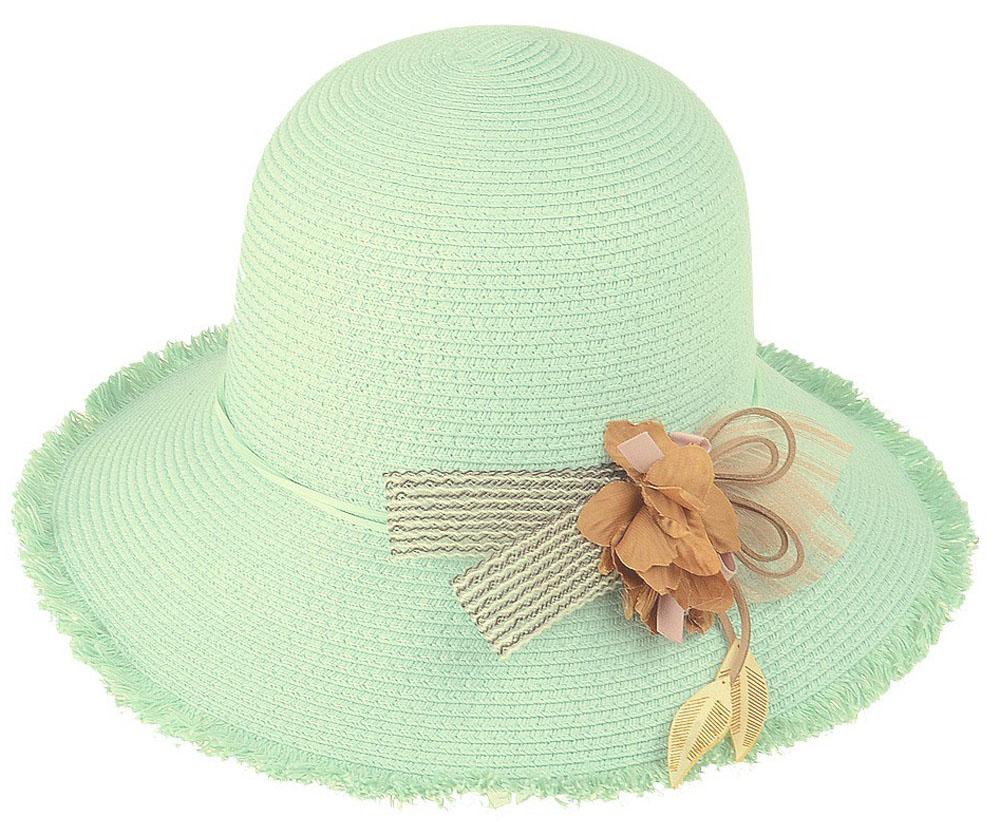 Шляпа женская Dispacci, цвет: бирюзовый. 51961. Размер 56/5851961Шляпа Dispacci украсит любой наряд. Шляпа оформлена декоративным цветком. Благодаря своей форме, модель удобно садится по голове и подойдет к любому стилю. Такая шляпка подчеркнет вашу неповторимость и дополнит ваш повседневный образ.