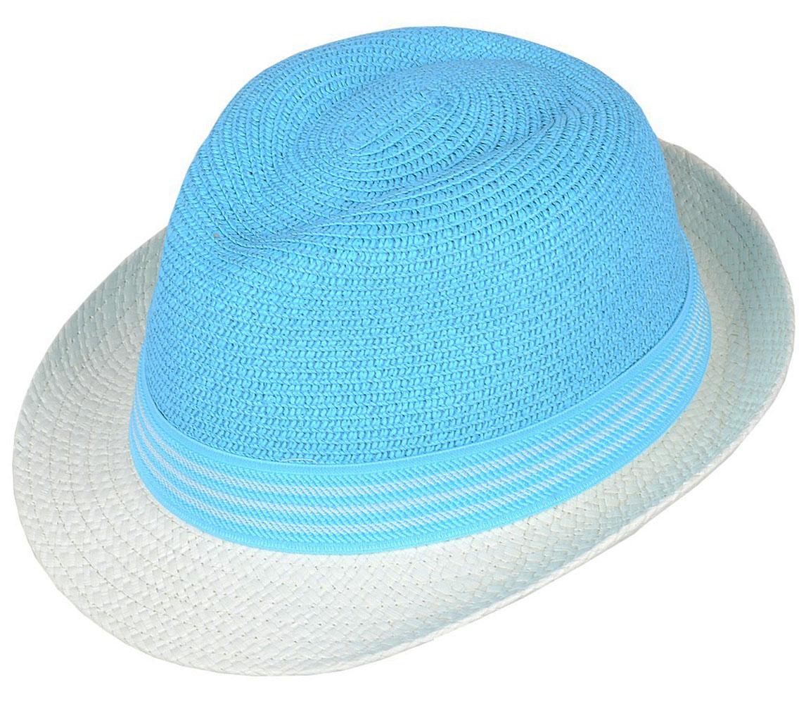 Шляпа женская Dispacci, цвет: бирюзовый. 7714. Размер 56/587714Классическая шляпа Dispacci непременно украсит любой наряд. Модель оформлена трикотажным контрастным ремешком вокруг тульи. Благодаря своей форме, шляпа удобно садится по голове и подойдет к любому стилю. Шляпа легко восстанавливает свою форму после сжатия. Такая шляпа подчеркнет вашу неповторимость и дополнит ваш повседневный образ.