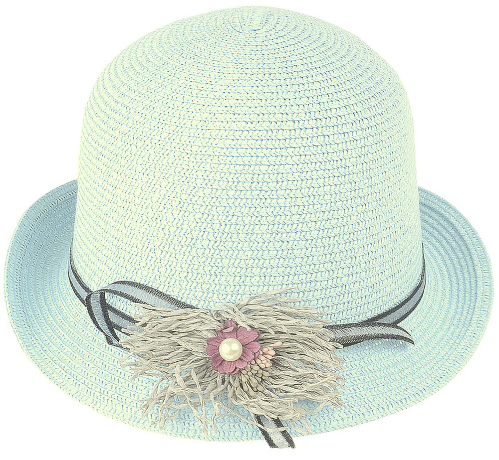 Шляпа женская Dispacci, цвет: голубой. 51970. Размер 56/5851970Шляпа Dispacci украсит любой наряд. Шляпа с небольшими полями оформлена декоративным цветком и бусиной. Благодаря своей форме, модель удобно садится по голове и подойдет к любому стилю. Такая шляпка подчеркнет вашу неповторимость и дополнит ваш повседневный образ.