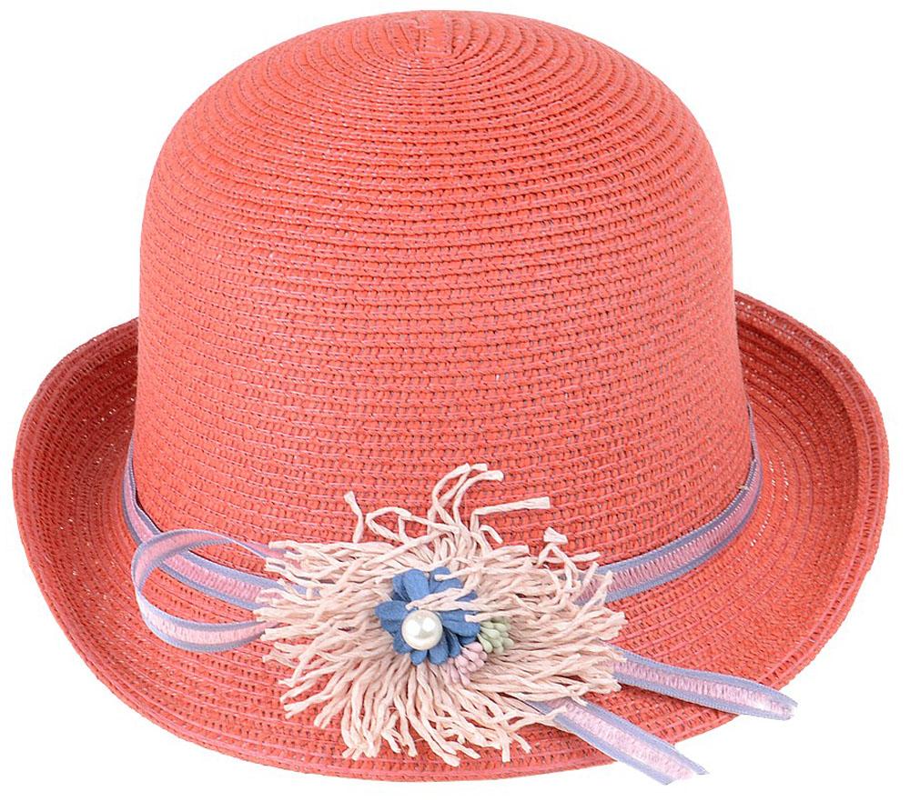 Шляпа женская Dispacci, цвет: коралловый. 51970. Размер 56/5851970Шляпа Dispacci украсит любой наряд. Шляпа с небольшими полями оформлена декоративным цветком и бусиной. Благодаря своей форме, модель удобно садится по голове и подойдет к любому стилю. Такая шляпка подчеркнет вашу неповторимость и дополнит ваш повседневный образ.