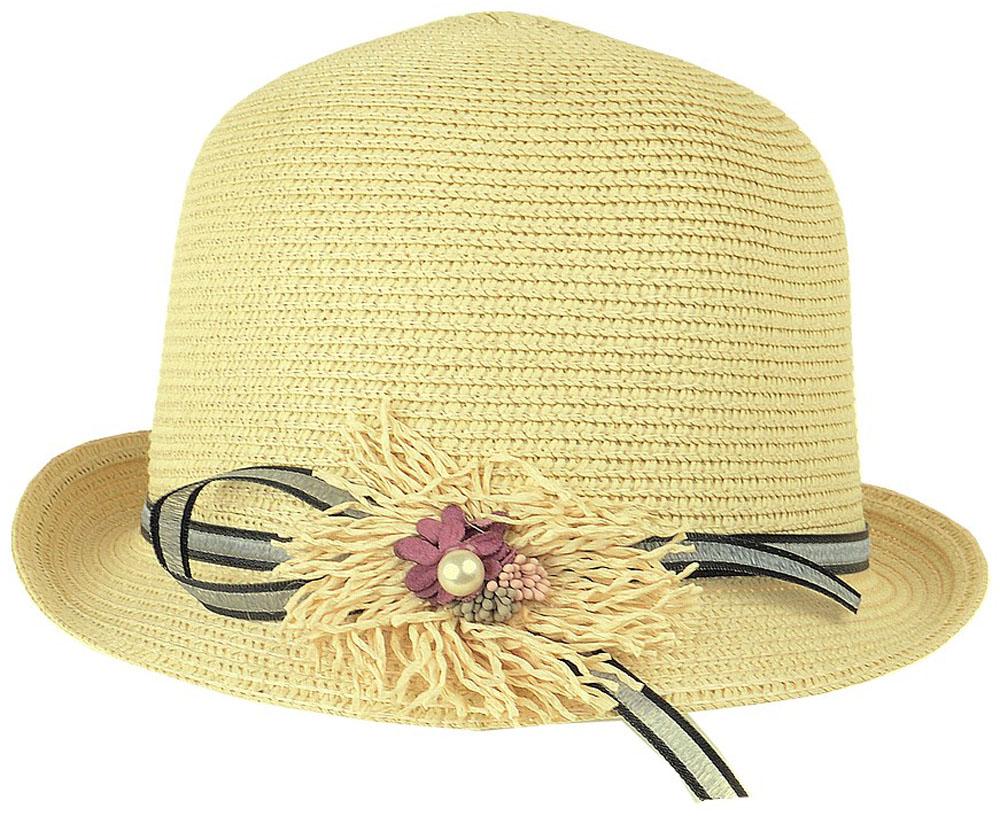 Шляпа женская Dispacci, цвет: экрю. 51970. Размер 56/5851970Шляпа Dispacci украсит любой наряд. Шляпа с небольшими полями оформлена декоративным цветком и бусиной. Благодаря своей форме, модель удобно садится по голове и подойдет к любому стилю. Такая шляпка подчеркнет вашу неповторимость и дополнит ваш повседневный образ.