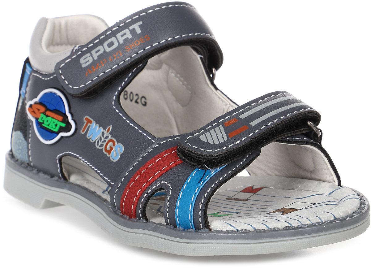 Сандалии для мальчика Мифер, цвет: серый. 7802G. Размер 307802GДетские сандалии Мифер выполнены из качественной искусственной кожи. Ремешки с липучками обеспечат оптимальную посадку модели на ноге. Мягкая стелька придаст максимальный комфорт при движении.
