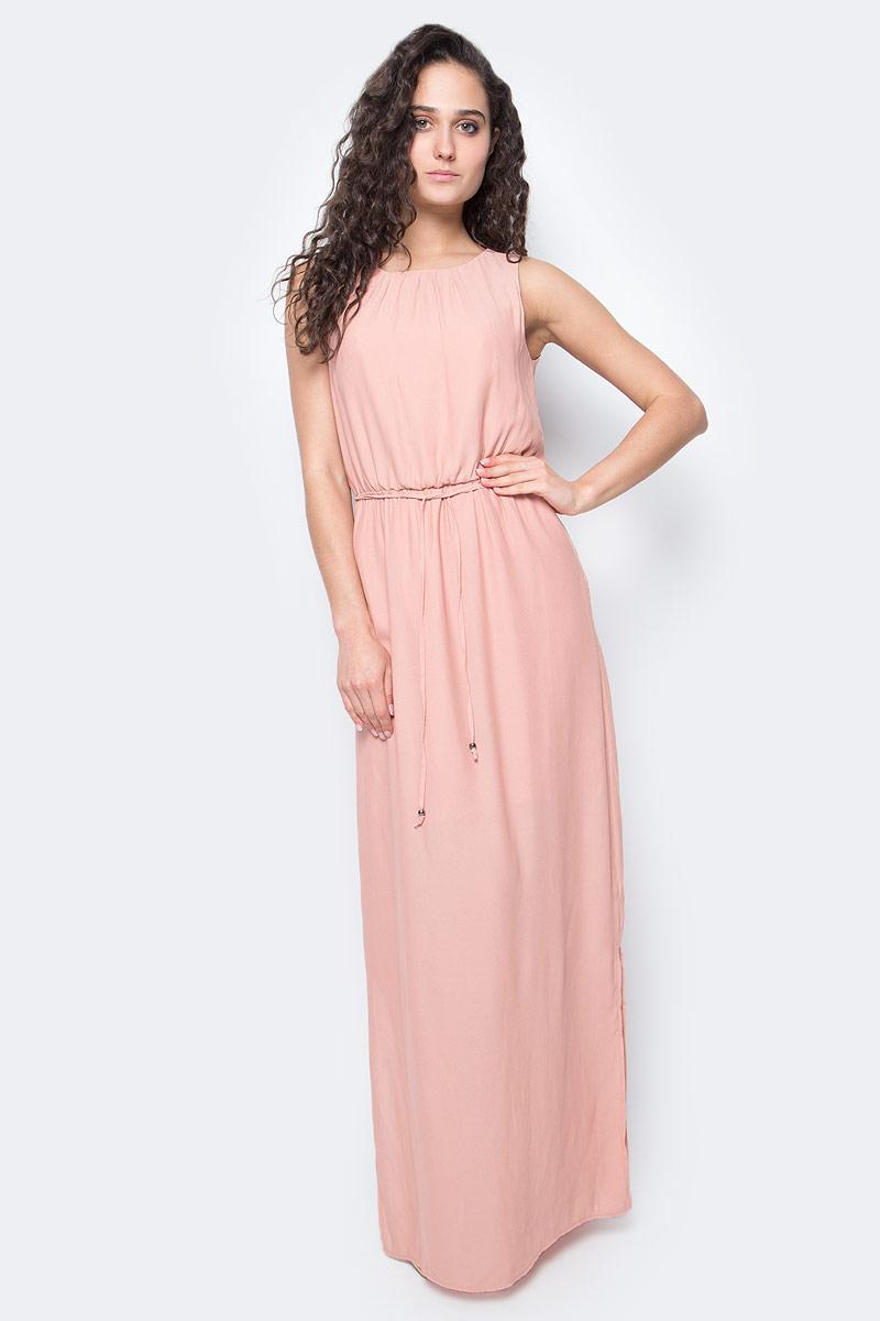Платье Only, цвет: розовый. 15136137_Rose Dawn. Размер 36 (42)15136137_Rose DawnПлатье женское Only из легкого трикотажа послужит идеальным дополнением к вашему гардеробу. Изделие застегивается на пуговицу и дополнено поясом.