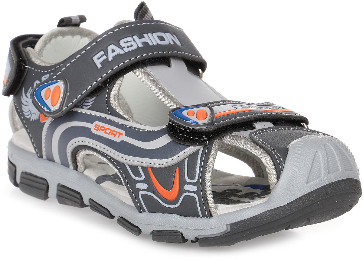 Сандалии для мальчика Мифер, цвет: серый. 7512C. Размер 367512CДетские сандалии Мифер выполнены из качественной искусственной кожи. Ремешки с липучками обеспечат оптимальную посадку модели на ноге. Мягкая стелька придаст максимальный комфорт при движении. Подошва оснащена рифлением для лучшего сцепления с различными поверхностями.