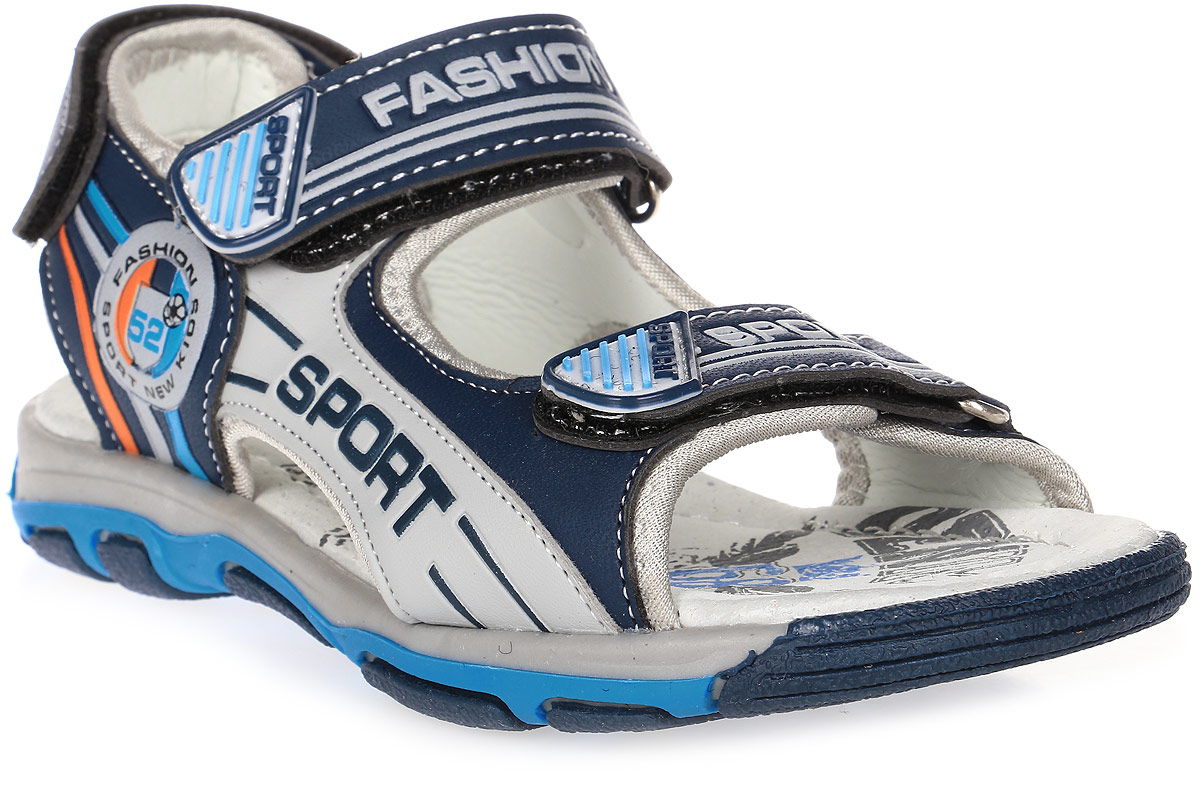 Сандалии для мальчика Мифер, цвет: синий. 7516E. Размер 347516EДетские сандалии Мифер выполнены из качественной искусственной кожи. Ремешки с липучками обеспечат оптимальную посадку модели на ноге. Мягкая стелька придаст максимальный комфорт при движении. Подошва оснащена рифлением для лучшего сцепления с различными поверхностями.