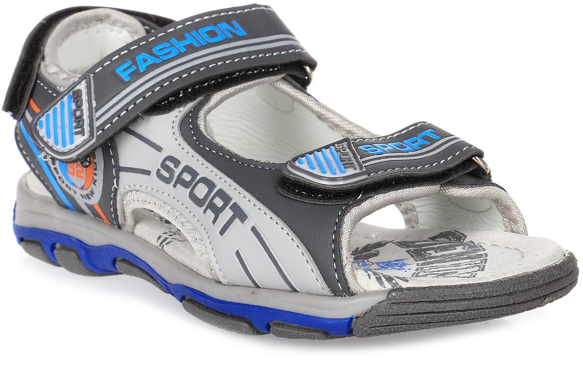 Сандалии для мальчика Мифер, цвет: серый. 7516E. Размер 327516EДетские сандалии Мифер выполнены из качественной искусственной кожи. Ремешки с липучками обеспечат оптимальную посадку модели на ноге. Мягкая стелька придаст максимальный комфорт при движении. Подошва оснащена рифлением для лучшего сцепления с различными поверхностями.