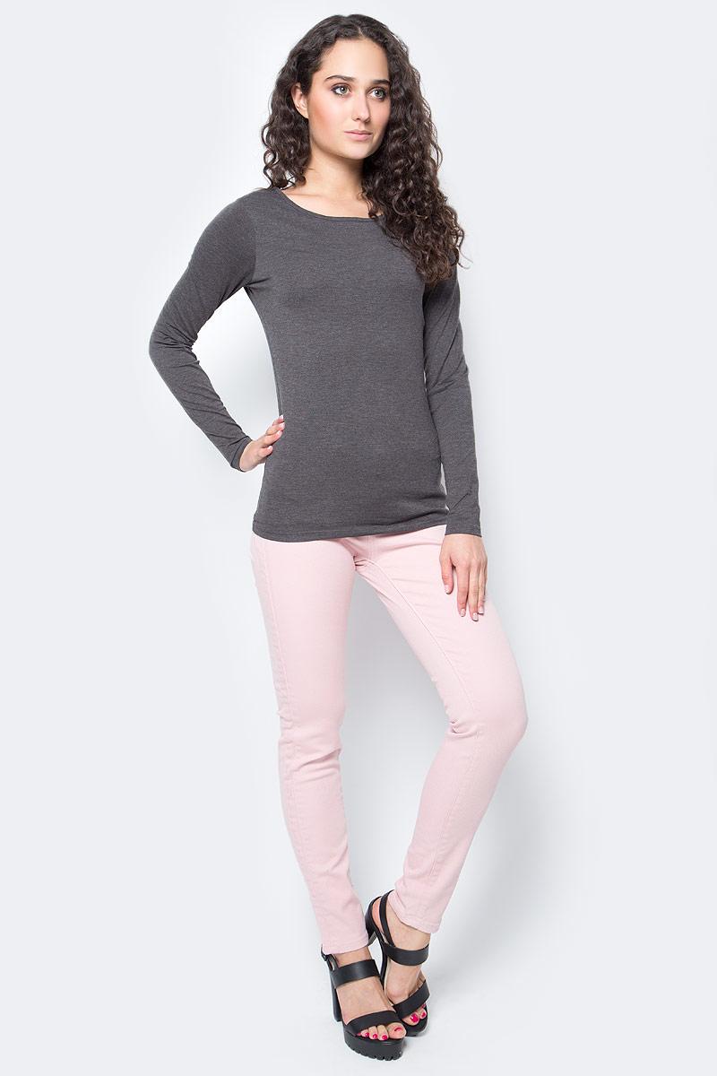 Лонгслив женский Top Secret, цвет: темно-серый. SPL0328ST. Размер 38 (44)SPL0328STЛонгслив женский Top Secret выполнен из мягкого эластичного хлопка. Однотонная модель с круглым вырезом горловины - базовый элемент одежды, необходимый для создания большинства повседневных образов.