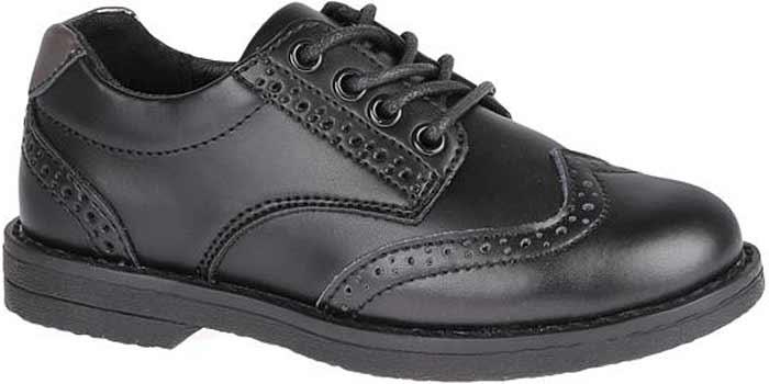 Полуботинки для мальчика Сказка, цвет: черный. R218222802. Размер 27R218222802Стильные полуботинки от бренда Сказка займут достойное место среди коллекции обуви вашего мальчика. Модель выполнена из натуральной и искусственной кожи и стилизована под броги. Подъем оформлен шнуровкой, которая надежно зафиксирует обувь на ноге. Внутренняя поверхность и стелька, изготовленные из натуральной кожи, обеспечат ногам комфорт и уют. Подошва с рифлением гарантирует отличное сцепление с любой поверхностью. Трендовые полуботинки придутся по душе вашему мальчику.