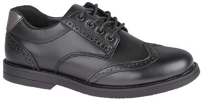 Полуботинки для мальчика Сказка, цвет: черный. R218223303. Размер 37,5R218223303Стильные полуботинки от бренда Сказка займут достойное место среди коллекции обуви вашего мальчика. Модель выполнена из натуральной и искусственной кожи и стилизована под броги. Подъем оформлен шнуровкой, которая надежно зафиксирует обувь на ноге. Внутренняя поверхность и стелька, изготовленные из натуральной кожи, обеспечат ногам комфорт и уют. Подошва с рифлением гарантирует отличное сцепление с любой поверхностью. Трендовые полуботинки придутся по душе вашему мальчику.