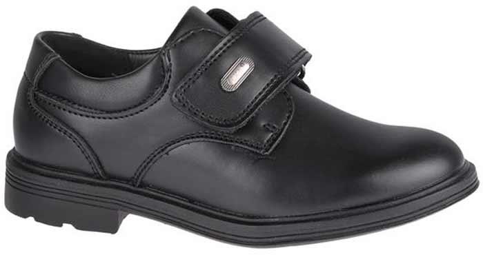 Полуботинки для мальчика Сказка, цвет: черный. R871622821. Размер 28R871622821Стильные полуботинки от бренда Сказка займут достойное место среди коллекции обуви вашего мальчика. Модель выполнена из натуральной и искусственной кожи и оформлена прострочкой. Подъем дополнен широким ремешком с липучкой, которая надежно зафиксирует обувь на ноге. Внутренняя поверхность и стелька, изготовленные из натуральной кожи, обеспечат ногам комфорт и уют. Подошва с рифлением гарантирует отличное сцепление с любой поверхностью. Трендовые полуботинки придутся по душе вашему мальчику.