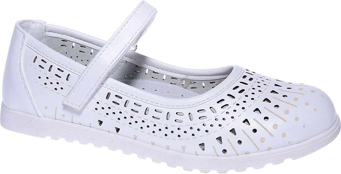 Туфли для девочки Мифер, цвет: белый. 7213C-6. Размер 367213C-6Прелестные туфли от бренда Мифер придутся по душе вашей юной моднице! Модель изготовлена из искусственной кожи и оформлена декоративной перфорацией. Ремешок с застежкой-липучкой отвечает за надежную фиксацию модели на ноге. Внутренняя поверхность из натуральной кожи не натирает. Стелька из кожи дарит комфорт при носке. Подошва с рифлением обеспечивает идеальное сцепление с любыми поверхностями. Стильные туфли - незаменимая вещь в гардеробе каждой девочки.