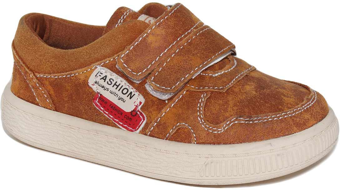 Полуботинки для мальчика Капитошка, цвет: коричневый. C7103. Размер 30C7103Модные полуботинки Капитошка не оставят равнодушным вашего мальчика! Модель, выполненная из натуральной кожи, дополнена контрастной прострочкой и сбоку фирменной нашивкой. Ремешки на застежках-липучках, обеспечивают надежную фиксацию обуви на ноге. Стелька, изготовленная из натуральной кожи, предотвратит натирание и гарантирует уют. Стильные полуботинки - незаменимая вещь в гардеробе вашего мальчика.