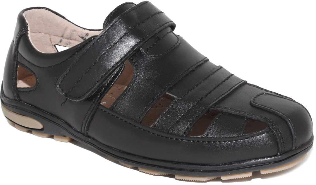 Полуботинки для мальчика Капитошка, цвет: черный. A7066. Размер 36A7066Стильные полуботинки от Капитошка займут достойное место среди коллекции обуви вашего мальчика. Модель, выполненная из искусственной и натуральной кожи, дополнена крупной перфорацией. Ремешок-липучка надежно зафиксирует обувь на ноге. Внутренняя поверхность и стелька из натуральной кожи, обеспечат ногам комфорт и уют. Подошва с рифлением обеспечивает отличное сцепление с любой поверхностью. Трендовые полуботинки придутся по душе вашему мальчику.