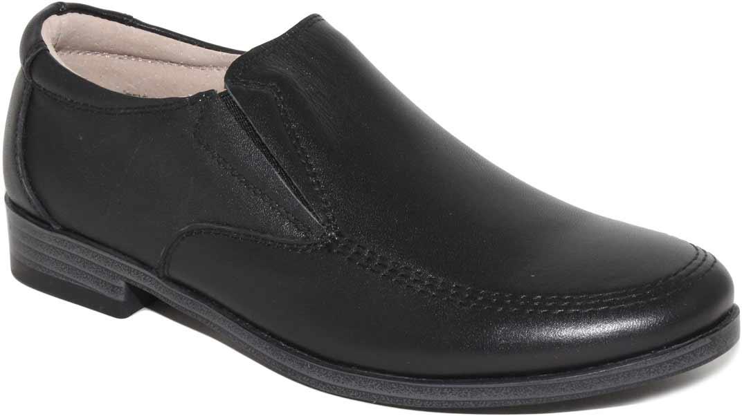 Туфли для мальчика Капитошка, цвет: черный. C7064. Размер 34C7064Стильные туфли для мальчика Капитошка выполнены из натуральной кожи. Область подъема дополнена двумя эластичными вставками. Модель дополнена прострочкой. Внутренняя поверхность и стелька из натуральной кожи обеспечат комфорт при движении. Подошва с рифлением обеспечивает отличное сцепление с любой поверхностью. Трендовые туфли придутся по душе вашему мальчику.