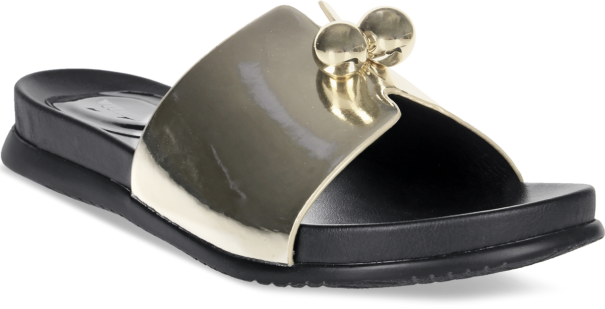 Сабо женские Vitacci, цвет: золотой. 87139. Размер 3887139Стильные сабо от Vitacci не оставят вас незамеченной! Модель выполнена из качественной искусственной кожи. Обувь оформлена двумя декоративными шарами. Подошва изготовлена из гибкого полиуретана.