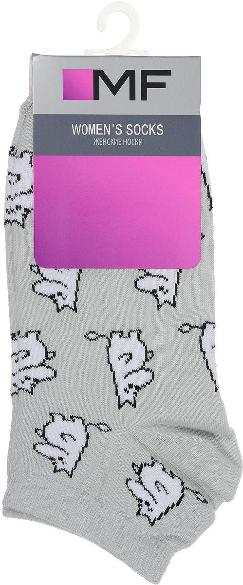 Носки женские Mark Formelle, цвет: светло-серый. 300K-392_5903. Размер 23 (36/37)300K-392_5903Удобные носки Mark Formelle, изготовленные из высококачественного комбинированного материала, очень мягкие и приятные на ощупь, позволяют коже дышать. Эластичная резинка плотно облегает ногу, не сдавливая ее, обеспечивая комфорт и удобство. Модель с укороченным паголенком дополнена принтом. Практичные и комфортные носки великолепно подойдут к любой вашей обуви.