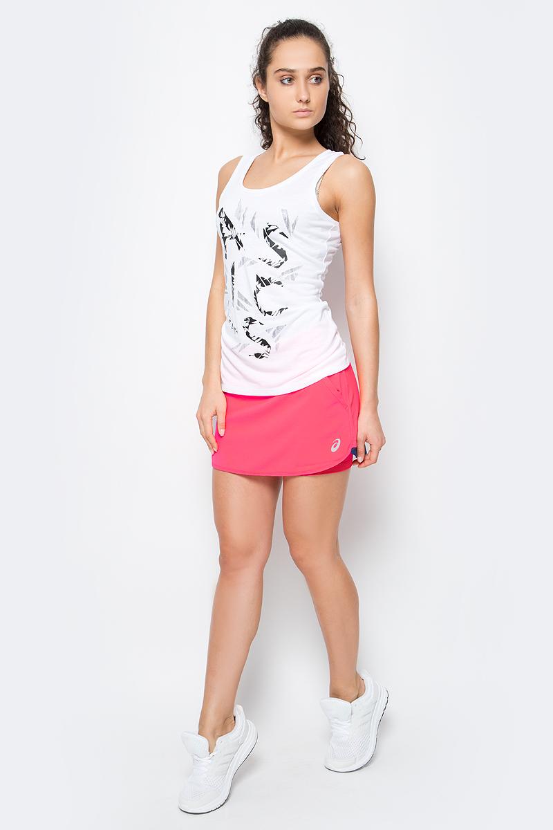Юбка для тенниса Asics Padel Skort, цвет: розовый. 141177-0688. Размер L (46/48)141177-0688Юбка для тенниса Asics Padel Skort изготовлена из полиэстера. Благодаря уникальному крою, юбка не сковывает движения, а актуальный дизайн добавляет изящности спортивному образу. Широкий эластичный пояс защищает кожу от натираний и дарит ощущение комфорта в течение всей тренировки.