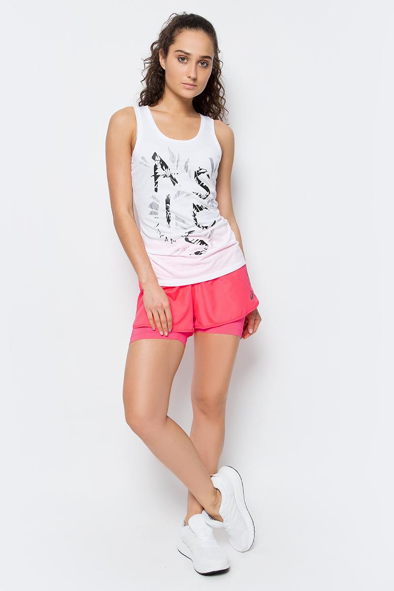 Шорты для бега женские Asics 2-N-1 3.5in Short, цвет: розовый. 141227-0688. Размер L (46/48)141227-0688Женские шорты Asics 2-N-1 3.5in Short отличным дополнением к вашему спортивному гардеробу. Они выполнены из полиэстера, удобно сидят и превосходно отводят влагу от тела, оставляя кожу сухой. Модель дополнена эластичной резинкой на поясе. Эти модные шорты идеально подойдут для бега и других спортивных упражнений. В них вы всегда будете чувствовать себя уверенно и комфортно.