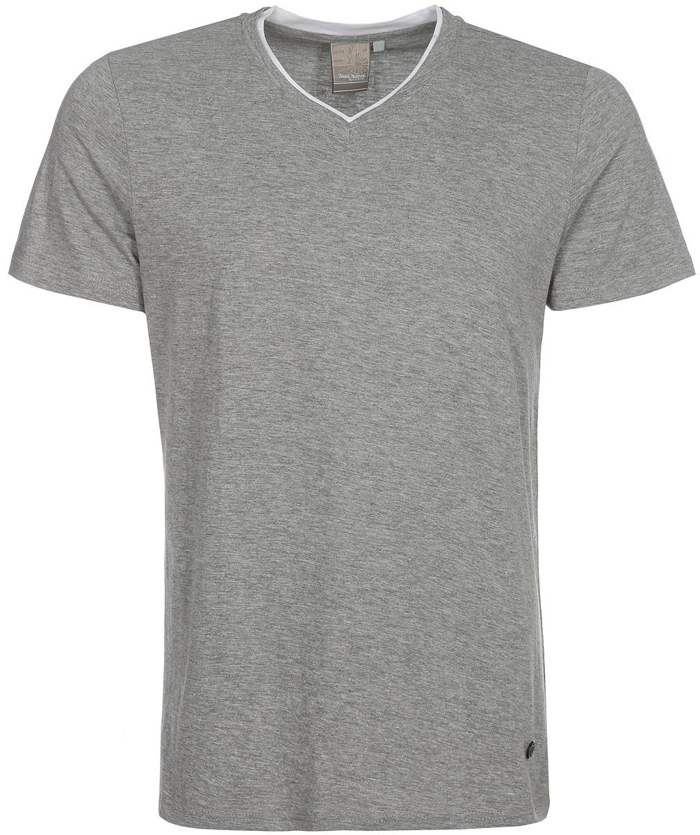 Футболка мужская Icepeak, цвет: серый. 757725514IVT_810. Размер L (52)757725514IVT_810Мужская футболка Icepeak изготовлена из натурального хлопка. Модель прямого кроя выполнена с V-образной горловиной и короткими рукавами.
