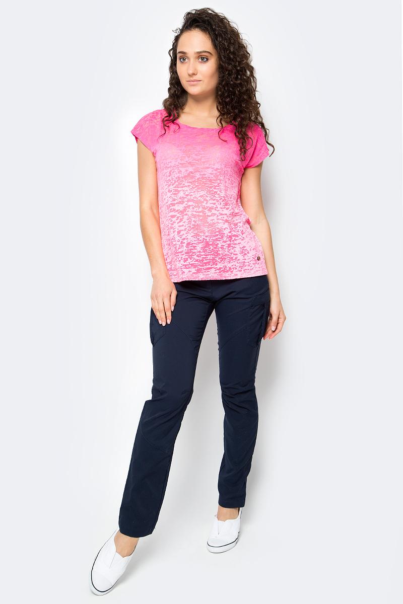 Футболка женская Icepeak, цвет: розовый. 754763638IV. Размер 42 (48)754763638IVЖенская футболка Icepeak изготовлена из качественной смесовой ткани. У модели круглая горловина, цвет плавно переходит из одного в другой.