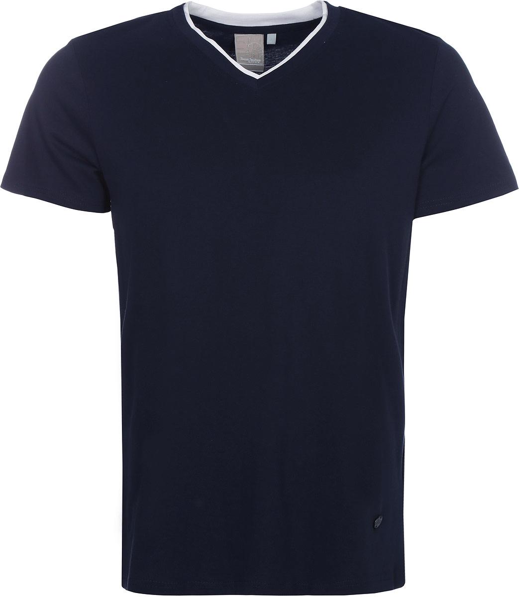 Футболка мужская Icepeak, цвет: темно-синий. 757725514IVT_390. Размер L (52)757725514IVT_390Мужская футболка Icepeak изготовлена из натурального хлопка. Модель прямого кроя выполнена с V-образной горловиной и короткими рукавами.