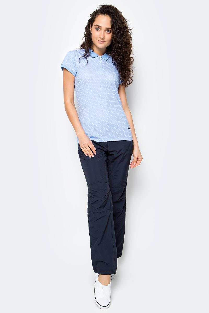 Брюки женские Icepeak, цвет: темно-синий. 754055574IV. Размер 36 (42)754055574IVЖенские брюки от Icepeak повседневного стиля в поясе застегиваются на пуговицу и ширинку на молнии, имеются шлевки для ремня. Модель прямого кроя с карманами, брючины подворачиваются.