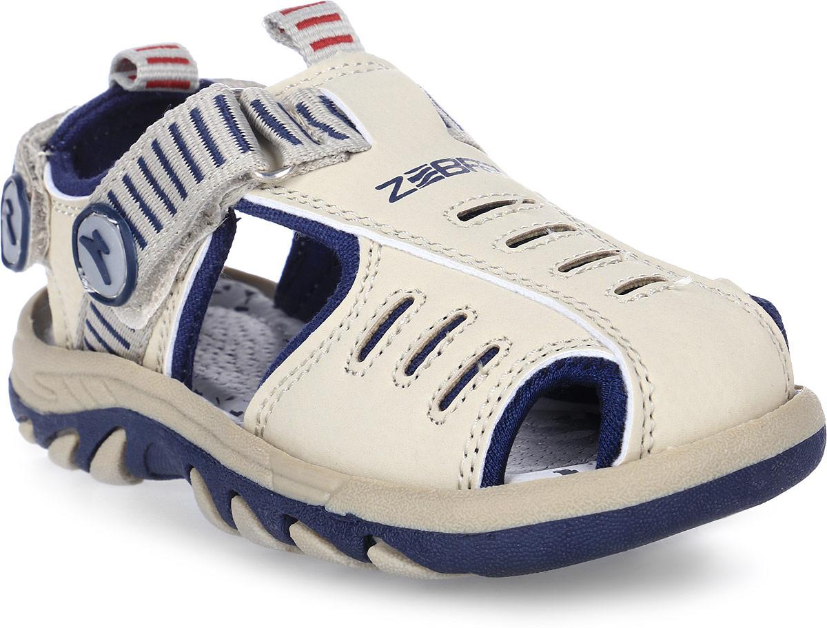 Сандалии для мальчика Зебра, цвет: бежевый. 9160-8. Размер 299160-8Сандалии от Зебра выполнены из искусственной кожи. Ремешок на застежке-липучке обеспечивает оптимальную посадку обуви на ноге, не давая ей смещаться из стороны в сторону и назад. Ярлычок на заднике предназначен для удобства обувания.