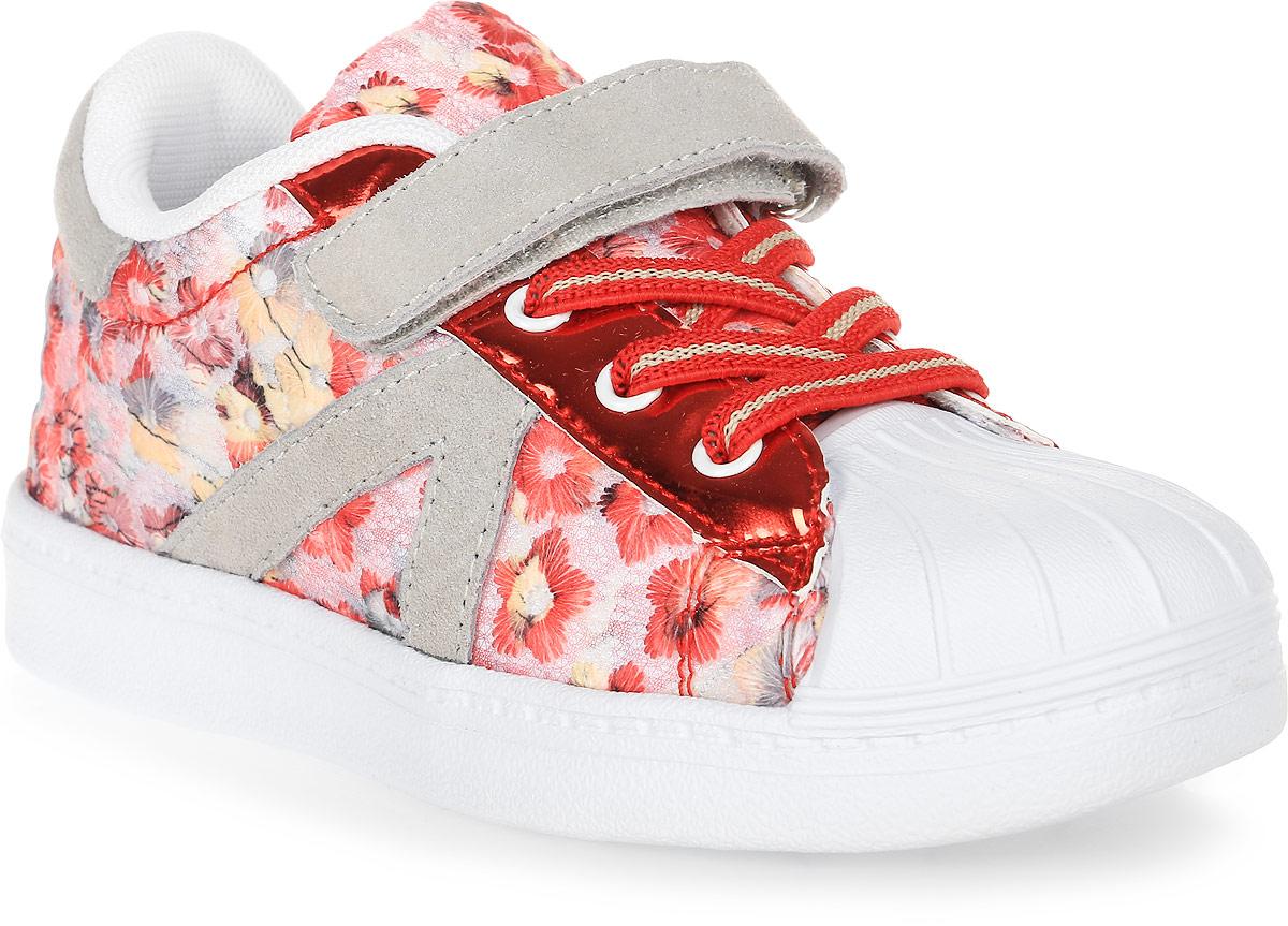 Кеды для девочки Зебра, цвет: красный. 11676-4. Размер 2911676-4Кеды от Зебра выполнены из высококачественного текстиля. Застежка-липучка и шнуровка обеспечивают надежную фиксацию обуви на ноге ребенка. Подкладка выполнена из текстиля, а стелька – из натуральной кожи, что предотвращает натирание и гарантирует уют. Подошва из филона дает превосходную амортизацию и упругость, хорошо поддерживает стопу.