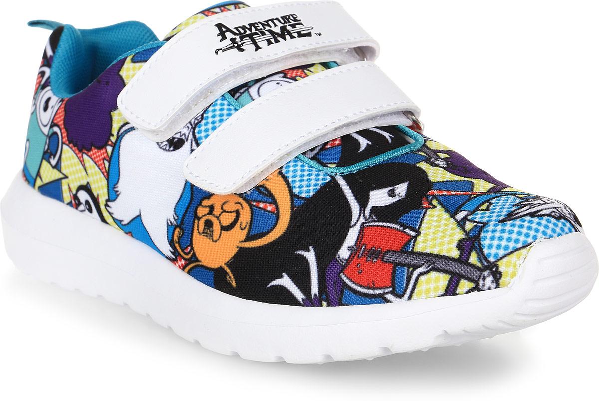 Кроссовки для девочки Kakadu Adventure Time, цвет: белый, голубой, фиолетовый. 6771B. Размер 366771BСтильные кроссовки Adventure Time от Kakadu - отличный выбор для вашей малышки на каждый день. Верх модели выполнен из дышащего текстиля. Кроссовки оформлены принтом с изображением персонажей мультсериала Время приключений. Ремешки на застежках-липучках обеспечивают надежную фиксацию обуви на ноге. Подкладка из текстильного материала создает комфорт при носке. Съемная анатомическая стелька удобна в эксплуатации и позволяет быстро просушивать обувь. Подошва выполнена из легкого ЭВА-материала.Рифление на подошве обеспечивает отличное сцепление с любой поверхностью.Модные и комфортные кроссовки - необходимая вещь в гардеробе каждого ребенка.