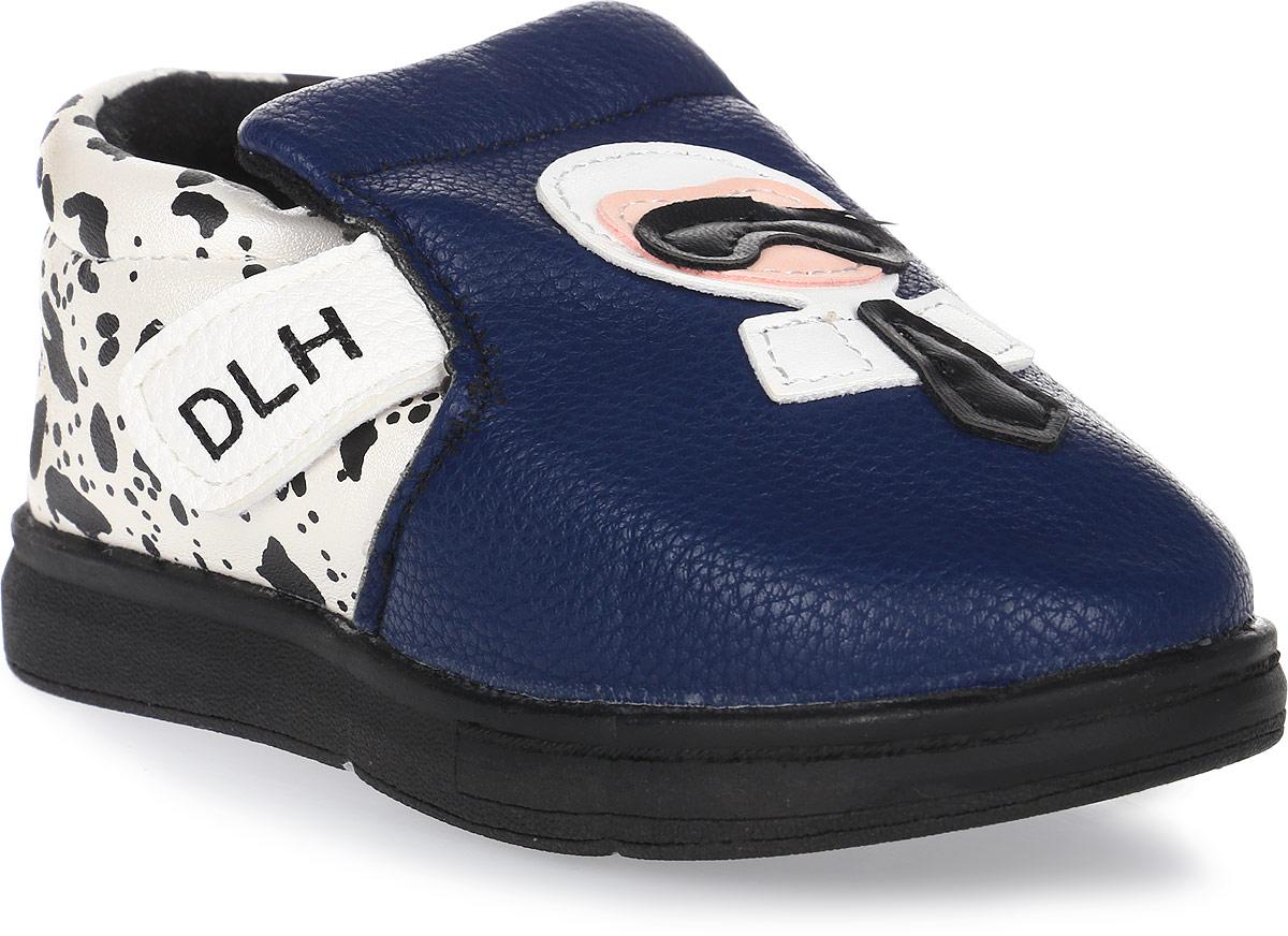 Пинетки детские Канарейка, цвет: темно-синий. K1187. Размер 19K1187Оригинальные детские пинетки от компании Канарейка - это легкая и удобная обувь для малышей, которые еще не умеют или только учатся ходить. Верх модели выполнен из качественной искусственной кожи. Внутри изделие выполнено из мягкого текстиля. Застегиваются пинетки на удобную липучку.