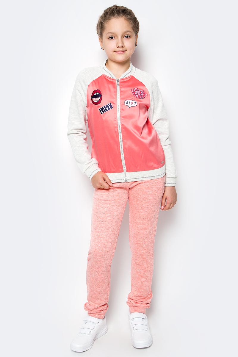 Куртка для девочки Tom Tailor, цвет: светло-серый меланж, розовый. 3533327.00.40_8440. Размер 1523533327.00.40_8440Детская легкая куртка Tom Tailor изготовлена из качественной смесовой ткани. Модель с длинными рукавами и воротником-стойкой застегивается спереди на молнию. Манжеты рукавов, низ куртки и воротник отделаны эластичными резинками.