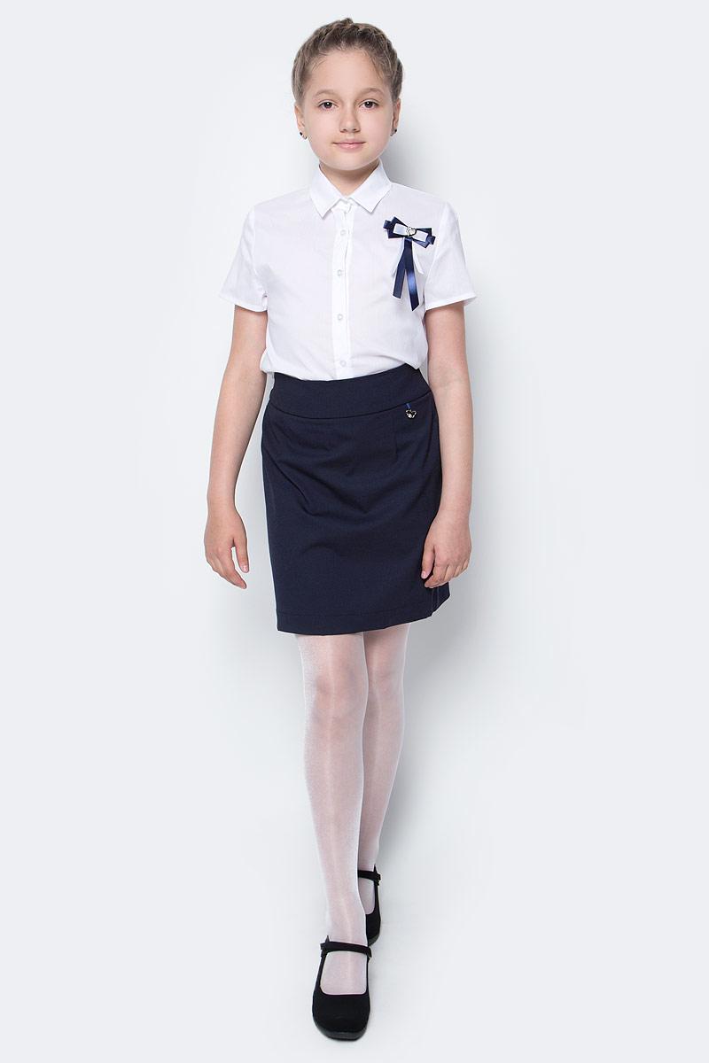 Юбка для девочки Nota Bene, цвет: темно-синий. CWA27001A29. Размер 122CWA27001B29/CWA27001A29Стильная юбка для девочки от Nota Bene выполнена из вискозы и полиэстера с добавлением лайкры. Юбка-миди имеет эластичную резинку на талии.