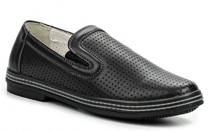Туфли для мальчика Зебра, цвет: черный. 11061-1. Размер 3311061-1Стильные туфли для мальчика Зебра гарантируют здоровое и правильное развитие ног ребенка.Модель выполнена из мягкой искусственной кожи с перфорацией и оформлена контрастной строчкой. Внутренняя отделка выполнена из натуральной кожи. Профилированная стелька, изготовленная из натуральной кожи, учитывает анатомические особенности строения детской стопы, обеспечивает им наилучшую защиту и профилактику от развития плоскостопия, гарантирует ногам ребенка ощущение комфорта и легкости при ходьбе, уменьшает усталость мышц и связок.Рифленая подошва туфель из легкого полимерного термопластичного материала обладает высокой прочностью, гибкостью, надежным сцеплением с различными покрытиями, не пачкает полы и оставляет следов и полос.