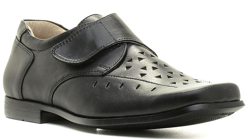 Туфли для мальчика Зебра, цвет: черный. 11478-1. Размер 4111477-1/11478-1Стильные туфли для мальчика Зебра гарантируют здоровое и правильное развитие ног ребенка.Модель выполнена из натуральной кожи и оформлена перфорацией. Внутренняя отделка также выполнена из натуральной кожи. Удобная застежка-липучка быстро и надежно фиксирует обувь на ноге ребенка. Профилированная стелька, изготовленная из натуральной кожи, учитывает анатомические особенности строения детской стопы, обеспечивает им наилучшую защиту и профилактику от развития плоскостопия, гарантирует ногам ребенка ощущение комфорта и легкости при ходьбе, уменьшает усталость мышц и связок.Рифленая подошва туфель из легкого полимерного термопластичного материала обладает высокой прочностью, гибкостью, надежным сцеплением с различными покрытиями, не пачкает полы и оставляет следов и полос.