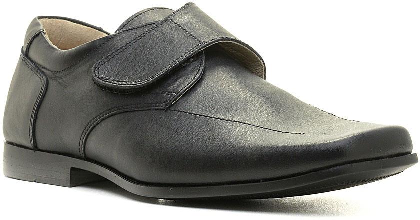 Туфли для мальчика Зебра, цвет: черный. 11479-1. Размер 4011479-1Стильные туфли для мальчика Зебра гарантируют здоровое и правильное развитие ног ребенка.Модель выполнена из натуральной кожи с внутренней отделкой из натуральной кожи. Удобная застежка-липучка быстро и надежно фиксирует обувь на ноге ребенка. Профилированная стелька, изготовленная из натуральной кожи, учитывает анатомические особенности строения детской стопы, обеспечивает им наилучшую защиту и профилактику от развития плоскостопия, гарантирует ногам ребенка ощущение комфорта и легкости при ходьбе, уменьшает усталость мышц и связок.Рифленая подошва туфель из легкого полимерного термопластичного материала обладает высокой прочностью, гибкостью, надежным сцеплением с различными покрытиями, не пачкает полы и оставляет следов и полос.