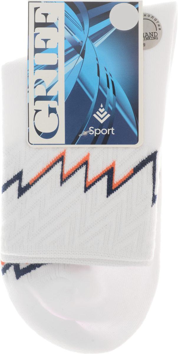 Носки спортивные Griff Sport, цвет: белый, оранжевый, черный. Размер 39/41. S30S30Носки для активного отдыха и занятий спортом Griff Sport отличаются повышенной гигроскопичностью и комфортностью. Удобная резинка пресс-контроль способствует профилактике усталости ног. Усиленные пятка и носок.