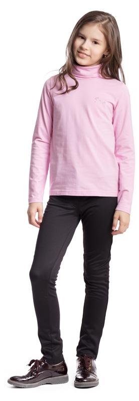 Водолазка для девочки Scool, цвет: светло-розовый. 374493. Размер 134, 9 лет374493Водолазка для девочки Scool изготовлена из эластичного хлопка. Модель с воротником-гольф и длинными рукавами сможет быть одной из базовых вещей детского повседневного гардероба. В качестве декора использована небольшая аппликация из стразов.