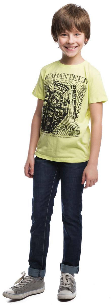 Джинсы для мальчика Scool, цвет: темно-синий. 263002. Размер 158263002Стильные джинсы для мальчика с контрастной прострочкой. Джинсы прямого кроя имеют пояс на резинке, дополнительно регулируемый шнурком. Спереди расположены два прорезных кармана, закрывающиеся молниями, сзади – два накладных кармана.