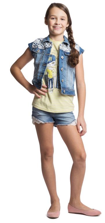 Жилет для девочки Scool, цвет: голубой, белый. 164052. Размер 140, 10 лет164052Модный джинсовый жилет для девочки Scool идеально подойдет вашей малышке и станет отличным дополнением к детскому гардеробу. Изготовленный из высококачественного материала, онмягкий и приятный на ощупь, не сковывает движения и позволяет коже дышать, не раздражает нежную кожу ребенка, обеспечивая ему наибольший комфорт. Модель с отложным воротником оформлена контрастной отстрочкой и кружевами. Застегивается жилет на металлические пуговицы. Спереди изделие дополнено двумя втачными карманами с клапанами на пуговицах. В таком жилете ваша дочурка будет чувствовать себя комфортно, уютно и всегда будет в центре внимания!