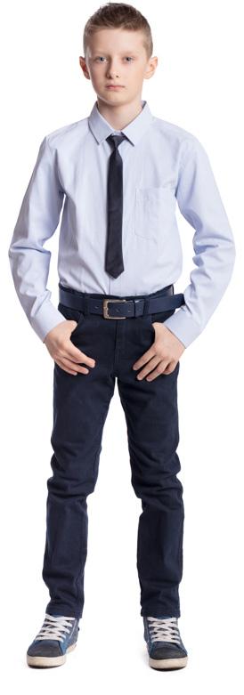 Рубашка для мальчика Scool, цвет: голубой. 373439. Размер 164, 14 лет373439Рубашка для мальчика Scool изготовлена из хлопка и полиэстера. Лекало этой модели полностью повторяет лекало модели для взрослого мужчины. Рубашка с отложным воротником и длинными рукавами застегивается на пуговицы. На груди расположен накладной карман. На рукавах предусмотрены манжеты с застежками-пуговицами. Модель хорошо сочетается с костюмом в деловом стиле и джинсами.