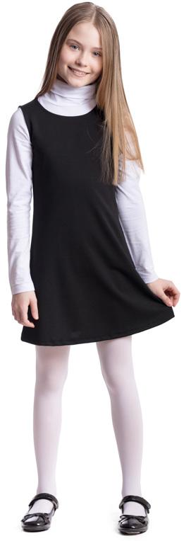 Сарафан для девочки Scool, цвет: черный. 374476. Размер 134, 9 лет374476Сарафан для девочки Scool выполнен из полиэстера, вискозы и эластана. Модель с круглым вырезом горловины застегивается по спинке на молнию. Удобный практичный сарафан в деловом стиле подойдет для официальных и праздничных мероприятий, а также сможет быть одной из базовых вещей школьного гардероба ребенка.