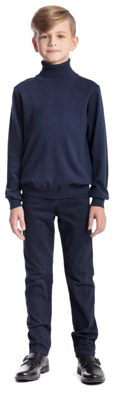 Свитер для мальчика Scool, цвет: темно-синий. 373418. Размер 146, 11 лет373418Свитер для мальчика Scool изготовлен из мягкой и тактильно приятной ткани. Модель с воротником-гольф и длинными рукавами сможет быть одной из базовых вещей детского гардероба. Манжеты, горловина и низ изделия связаны резинкой.